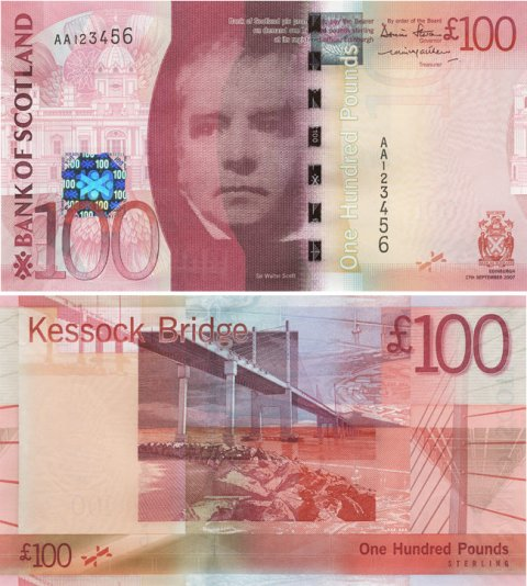 Bank of Scotland Bridge-£100-Front-Back